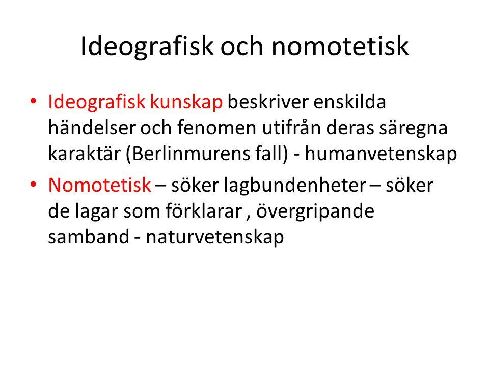 Ideografisk och nomotetisk