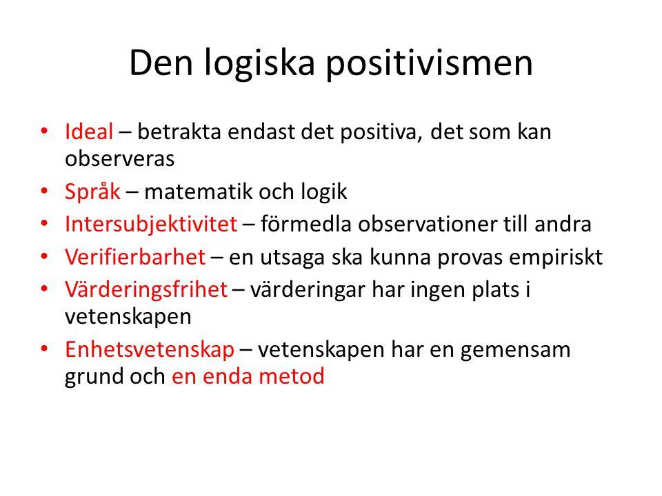 Den logiska positivismen