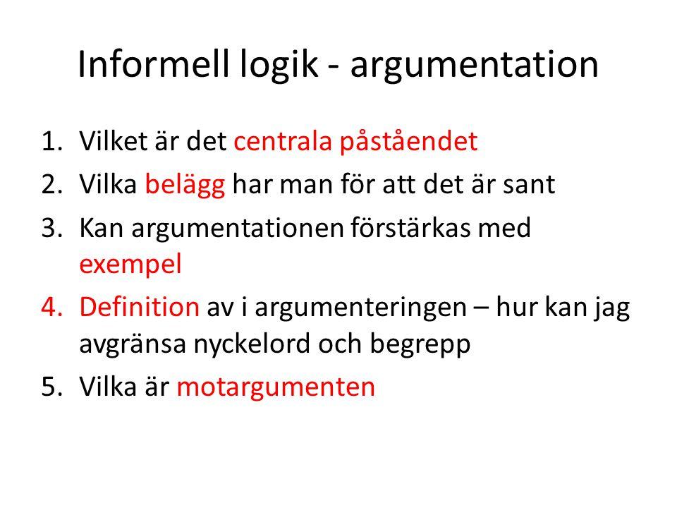 Informell logik - argumentation