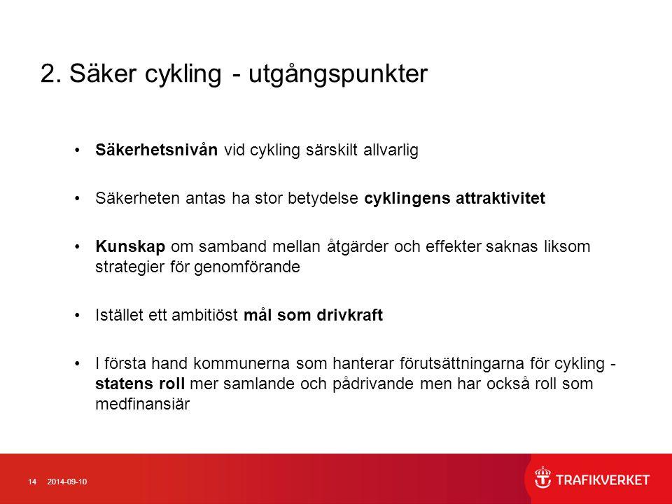 2. Säker cykling - utgångspunkter