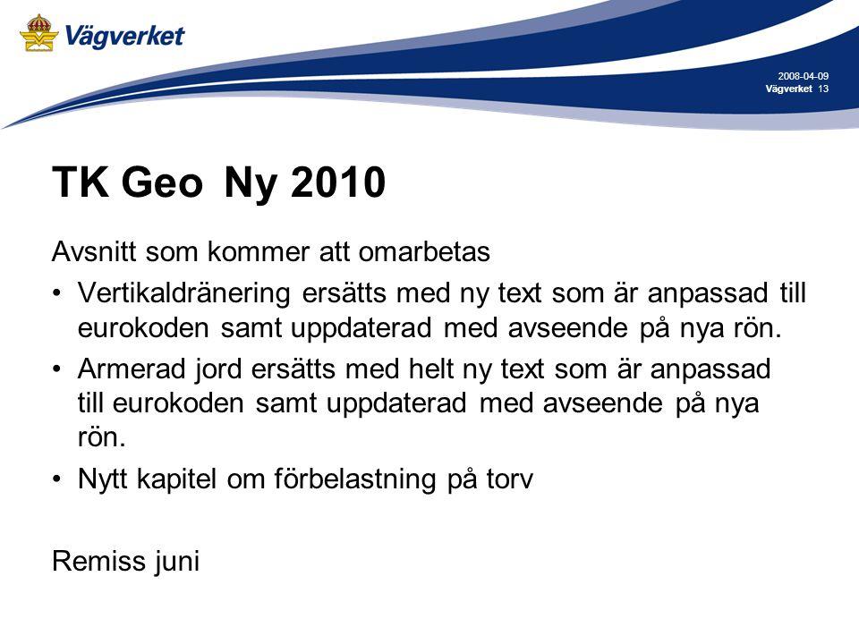 TK Geo Ny 2010 Avsnitt som kommer att omarbetas