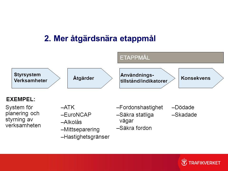2. Mer åtgärdsnära etappmål
