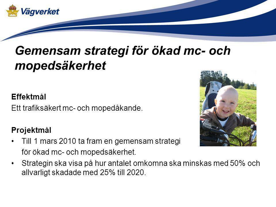 Gemensam strategi för ökad mc- och mopedsäkerhet