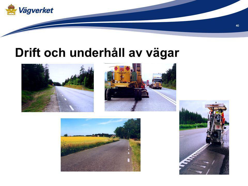 Drift och underhåll av vägar