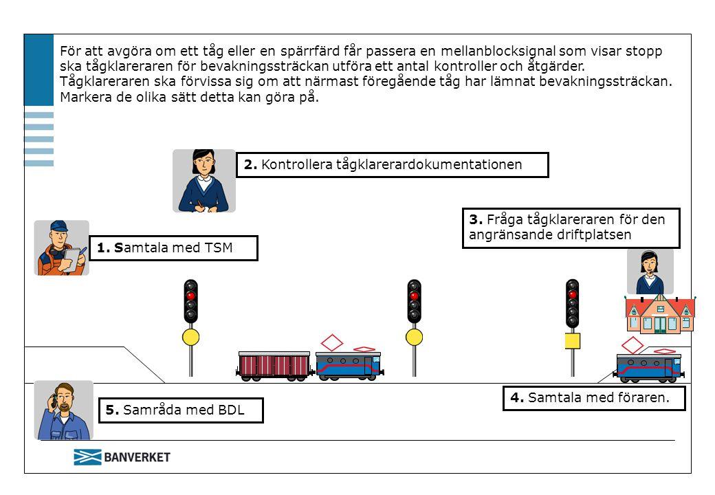 2. Kontrollera tågklarerardokumentationen