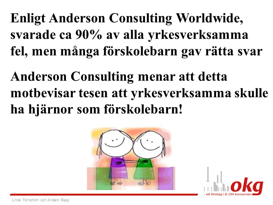Enligt Anderson Consulting Worldwide,