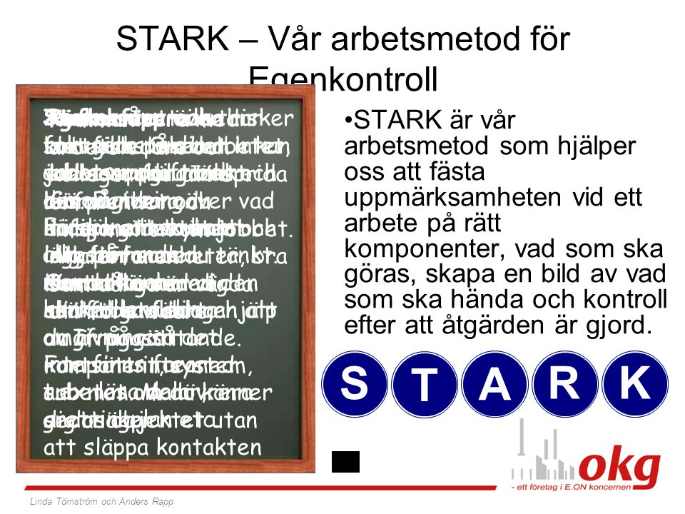 STARK – Vår arbetsmetod för Egenkontroll