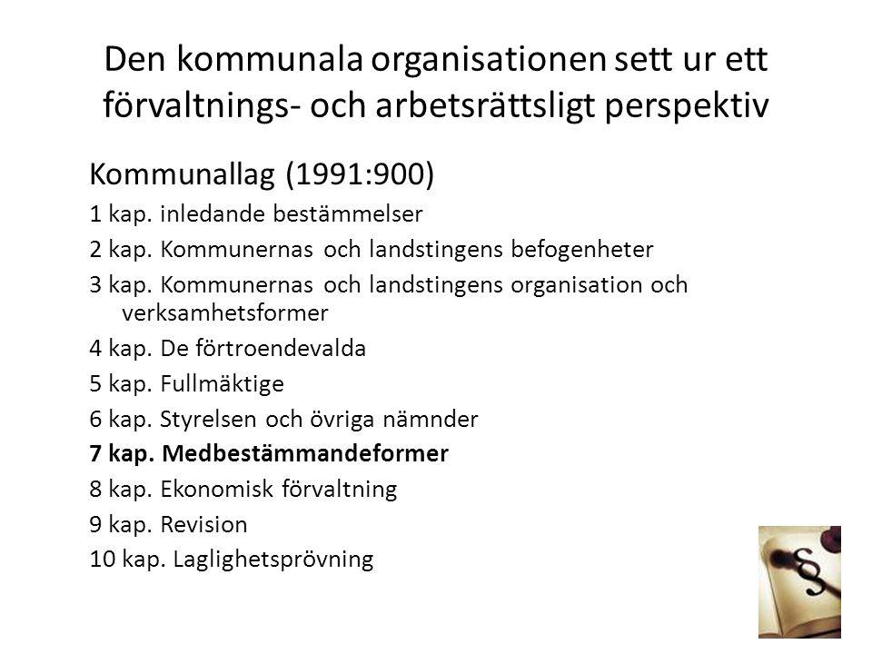 Den kommunala organisationen sett ur ett förvaltnings- och arbetsrättsligt perspektiv