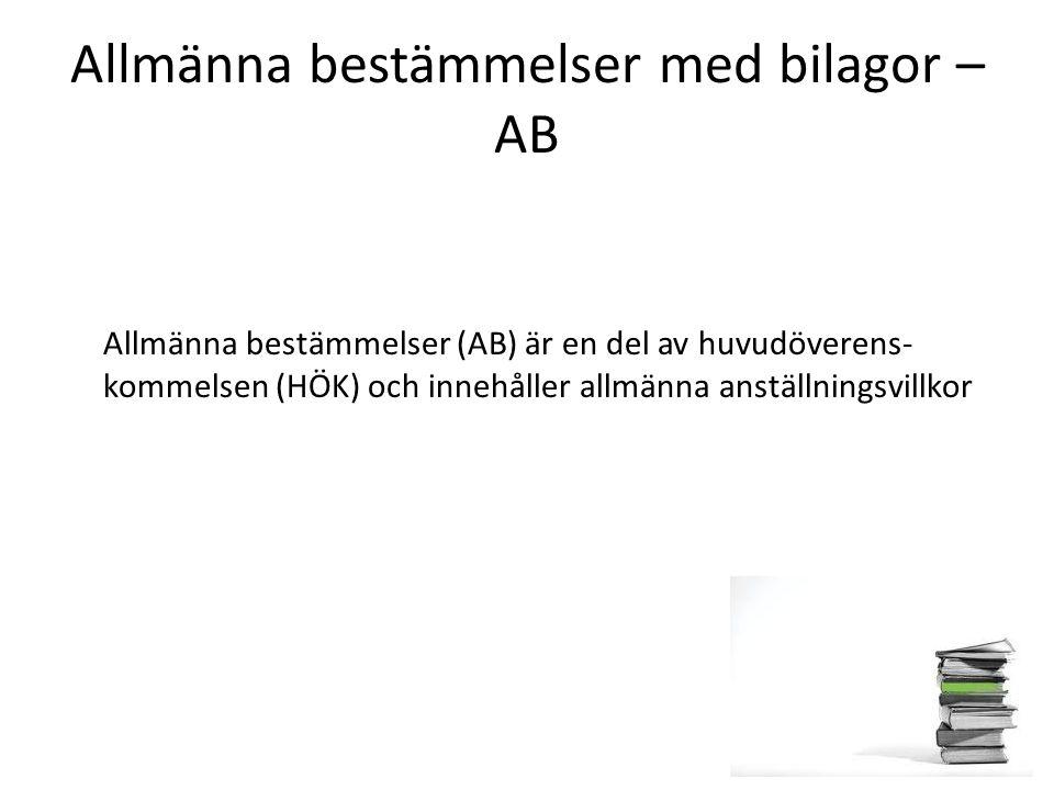Allmänna bestämmelser med bilagor – AB