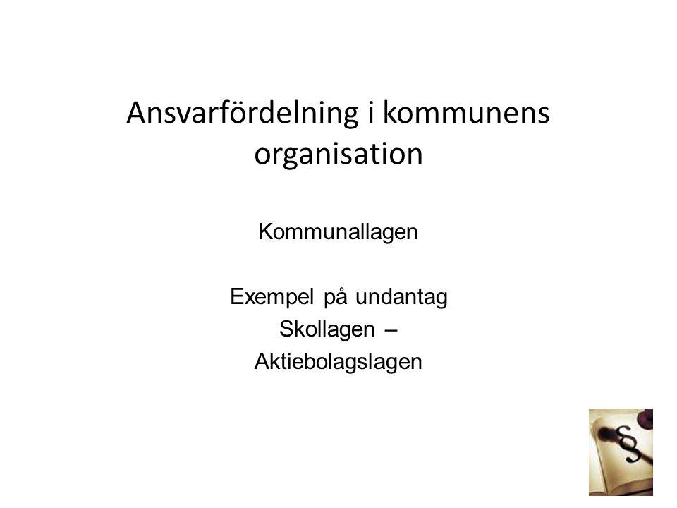 Ansvarfördelning i kommunens organisation