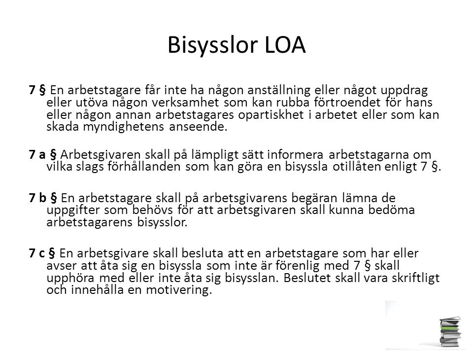 Bisysslor LOA