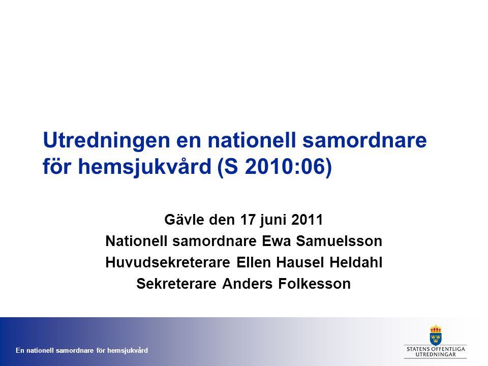 Utredningen en nationell samordnare för hemsjukvård (S 2010:06)