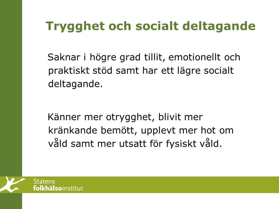 Trygghet och socialt deltagande