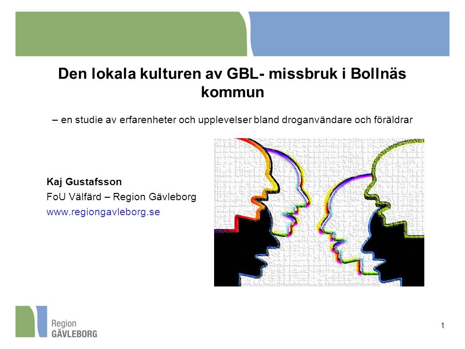 Den lokala kulturen av GBL- missbruk i Bollnäs kommun – en studie av erfarenheter och upplevelser bland droganvändare och föräldrar