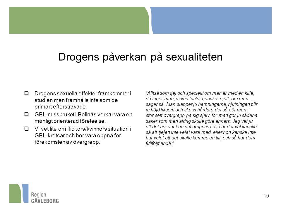 Drogens påverkan på sexualiteten