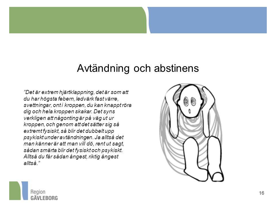 Avtändning och abstinens