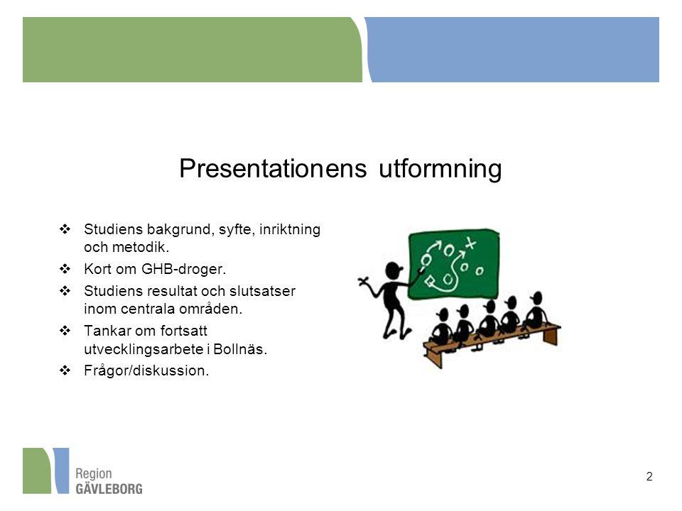 Presentationens utformning