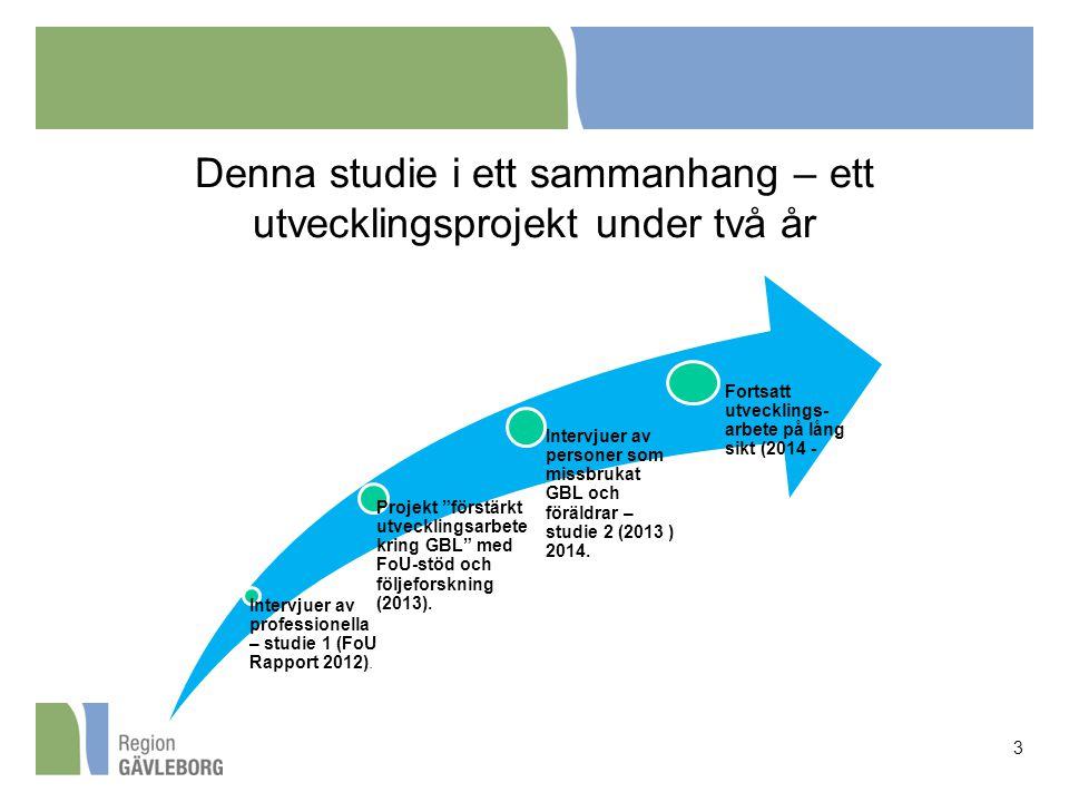 Denna studie i ett sammanhang – ett utvecklingsprojekt under två år