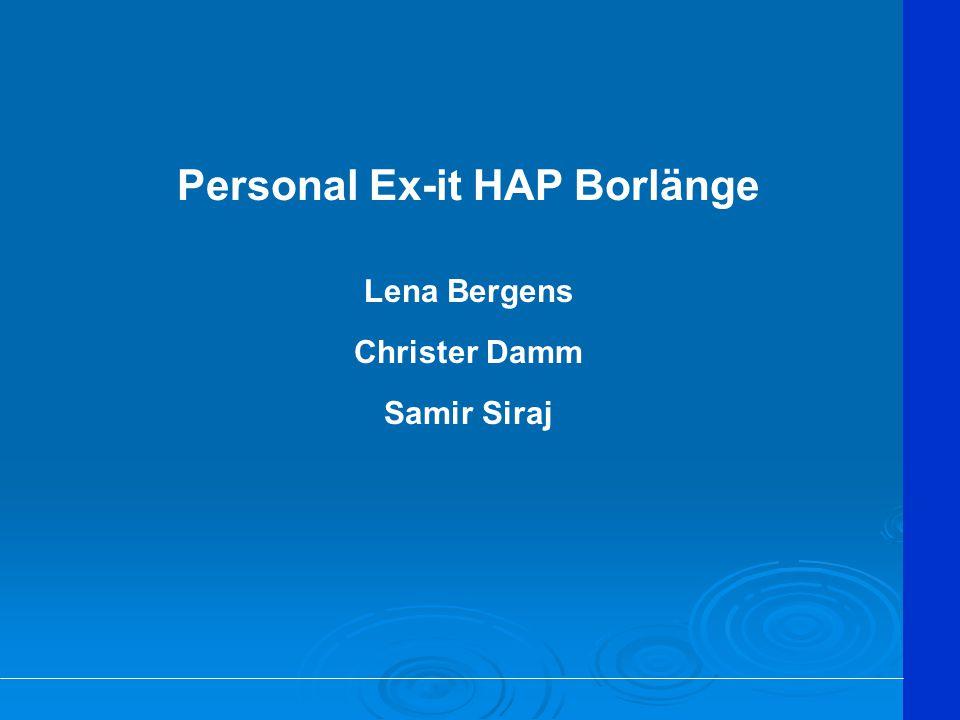 Personal Ex-it HAP Borlänge