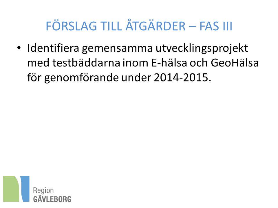 FÖRSLAG TILL ÅTGÄRDER – FAS III