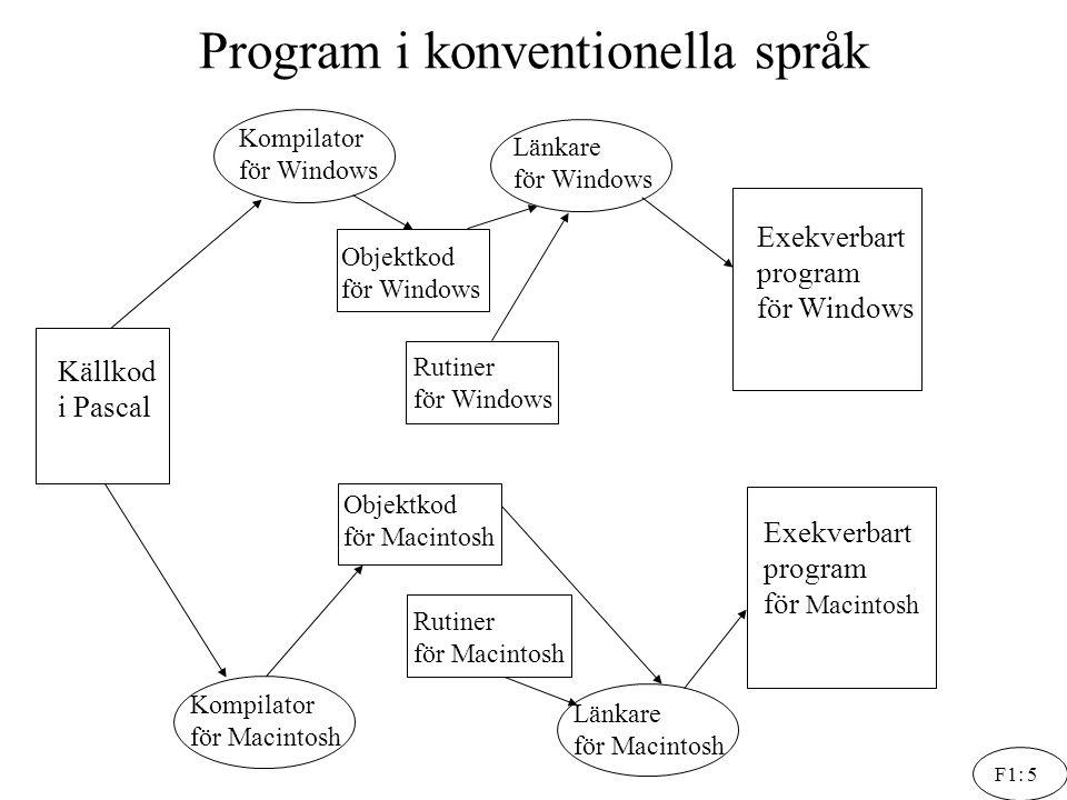 Program i konventionella språk