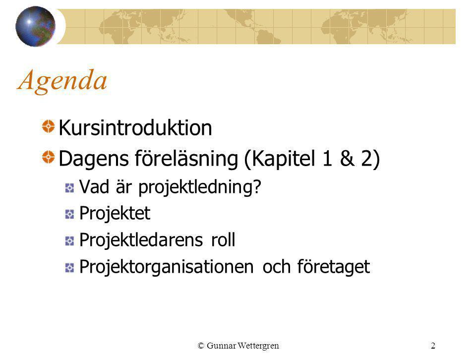 Agenda Kursintroduktion Dagens föreläsning (Kapitel 1 & 2)