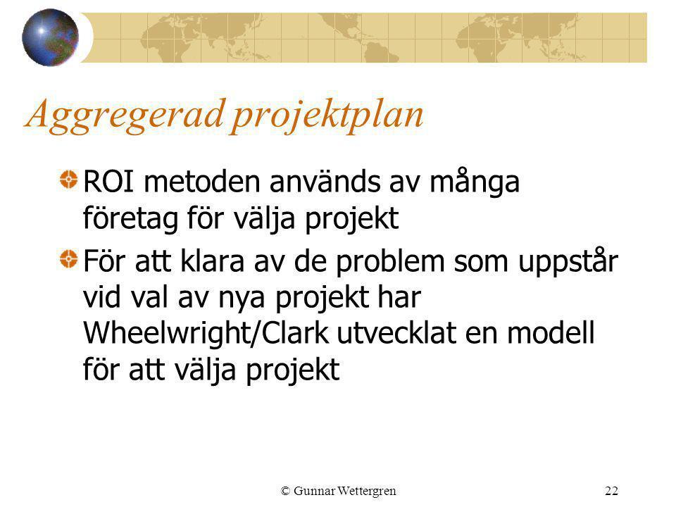 Aggregerad projektplan