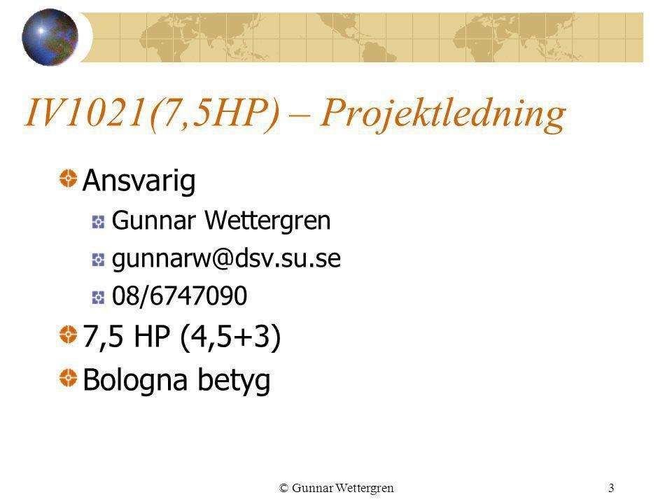 IV1021(7,5HP) – Projektledning
