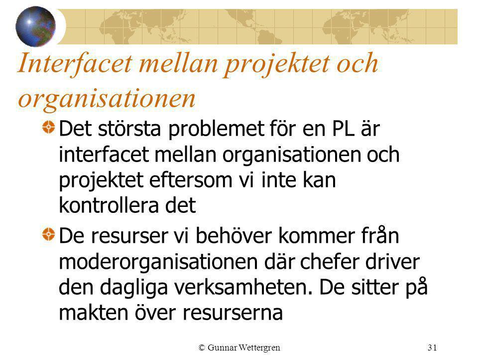 Interfacet mellan projektet och organisationen