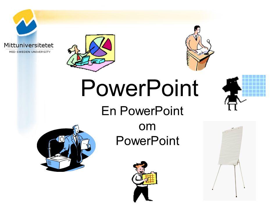 En PowerPoint om PowerPoint