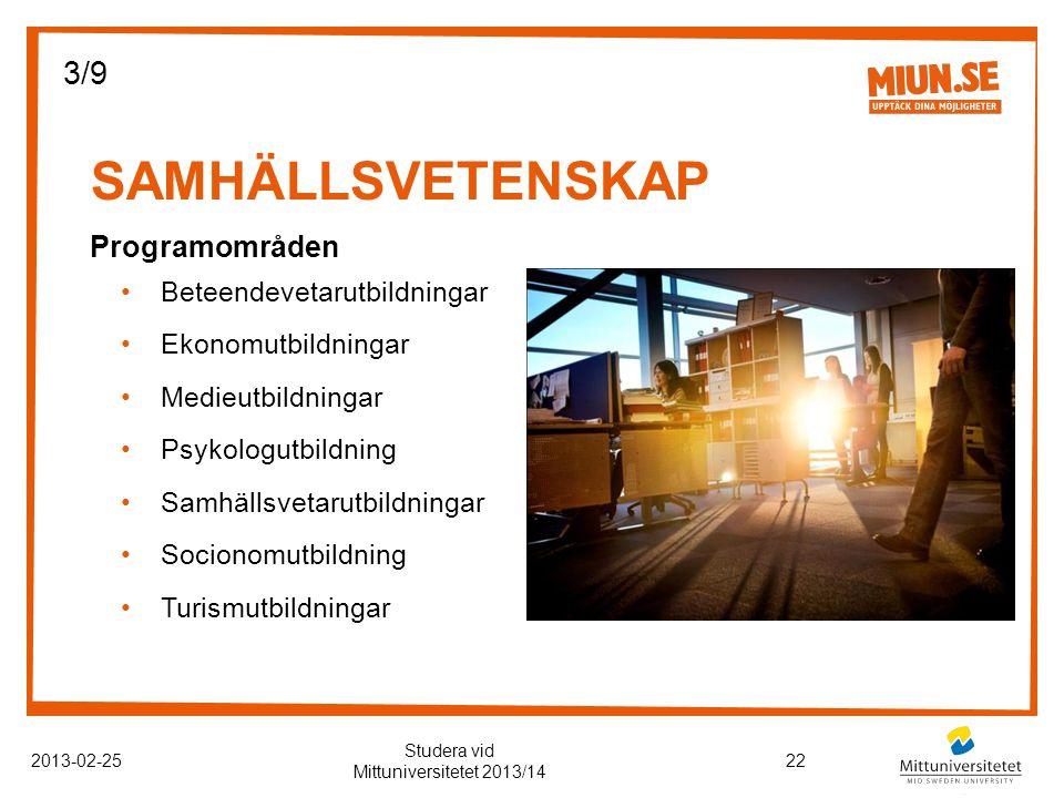 Studera vid Mittuniversitetet 2013/14