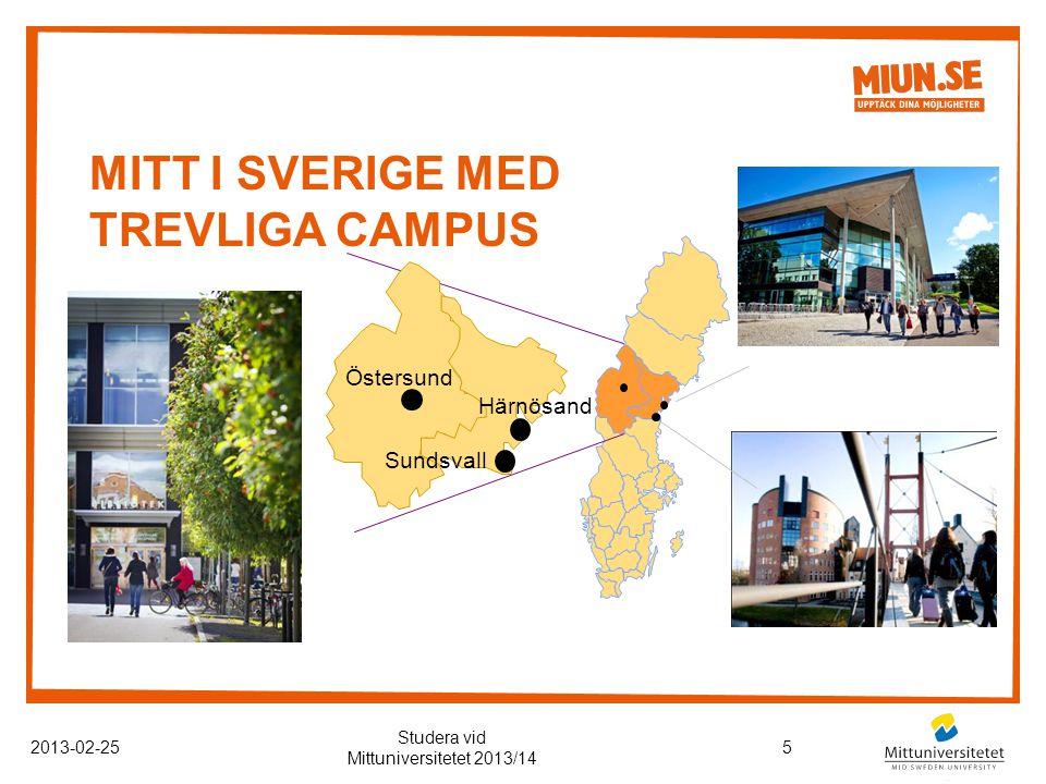 Mitt i Sverige med trevliga campus