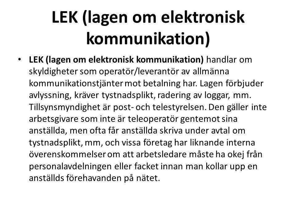 LEK (lagen om elektronisk kommunikation)