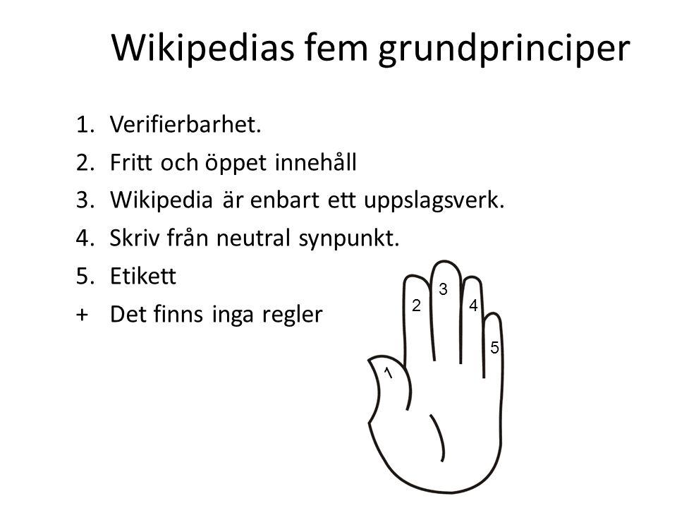 Wikipedias fem grundprinciper