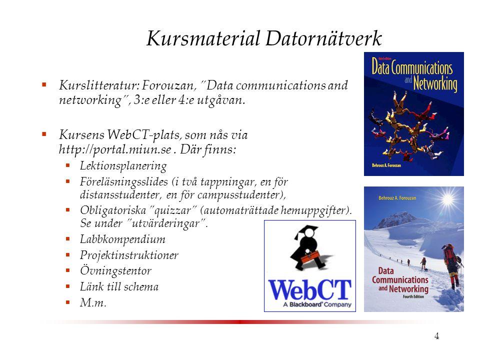 Kursmaterial Datornätverk