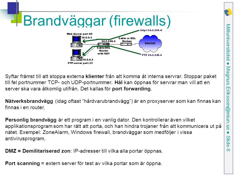 Brandväggar (firewalls)