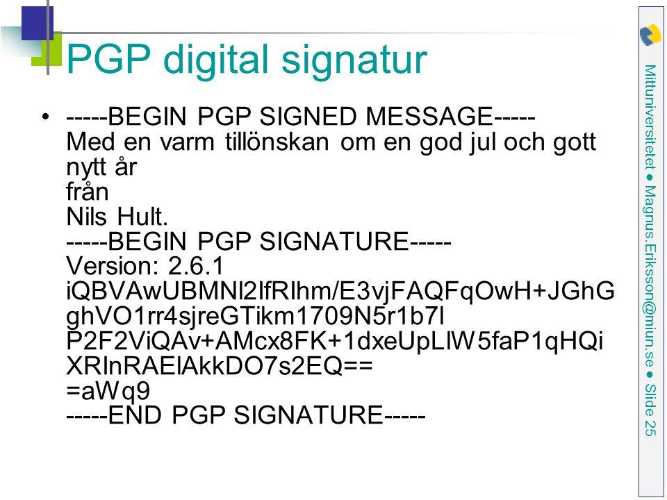 PGP digital signatur