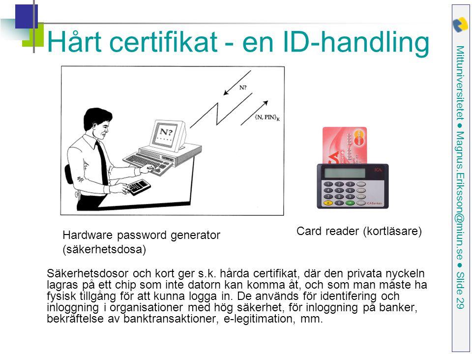 Hårt certifikat - en ID-handling