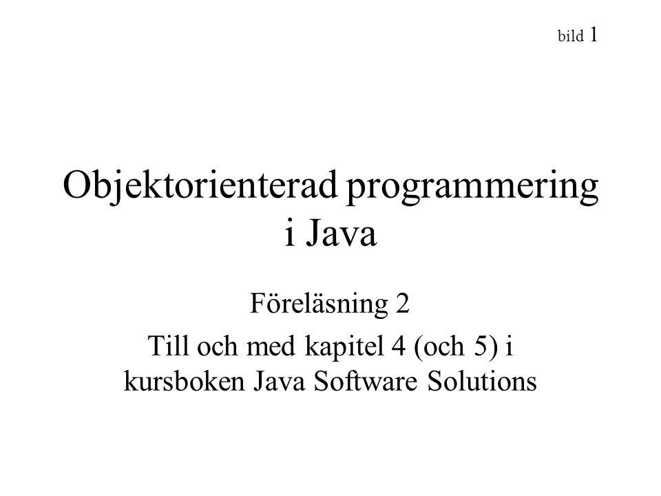Objektorienterad programmering i Java
