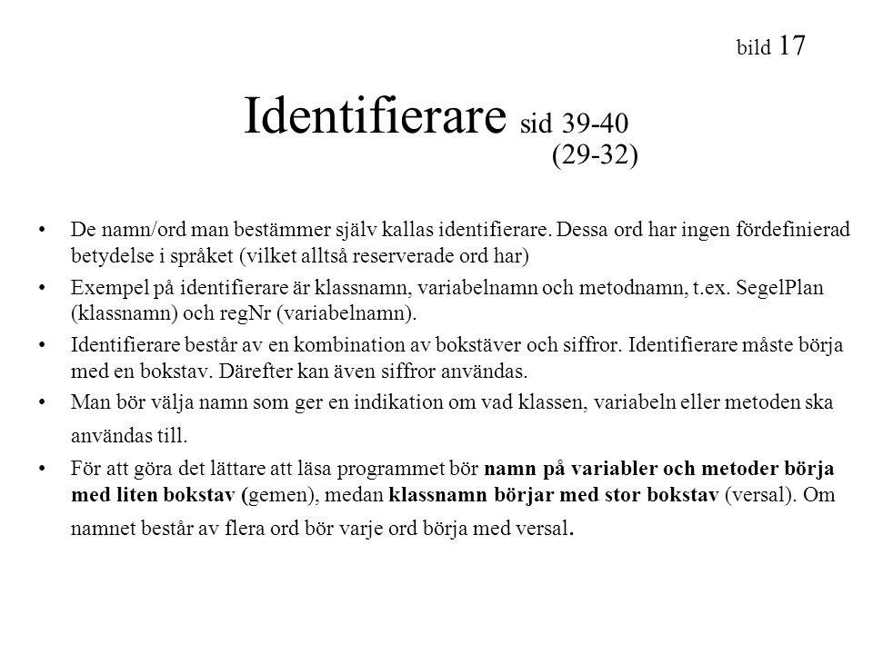 Identifierare sid 39-40 (29-32)