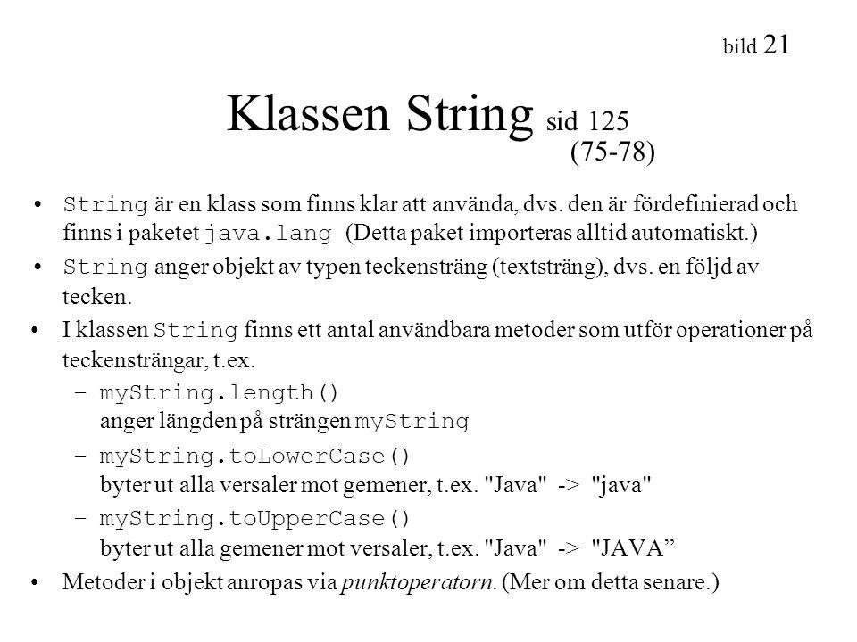 Klassen String sid 125 (75-78)