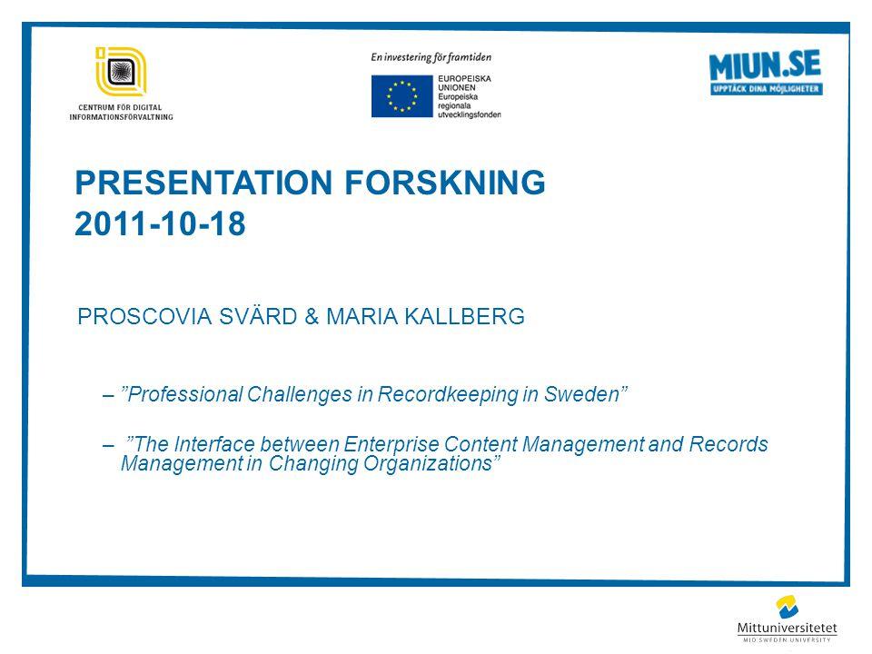 PRESENTATION forskning 2011-10-18