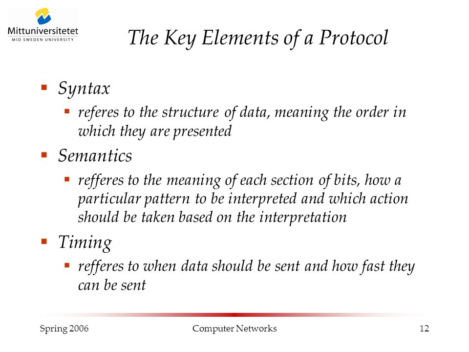 The Key Elements of a Protocol
