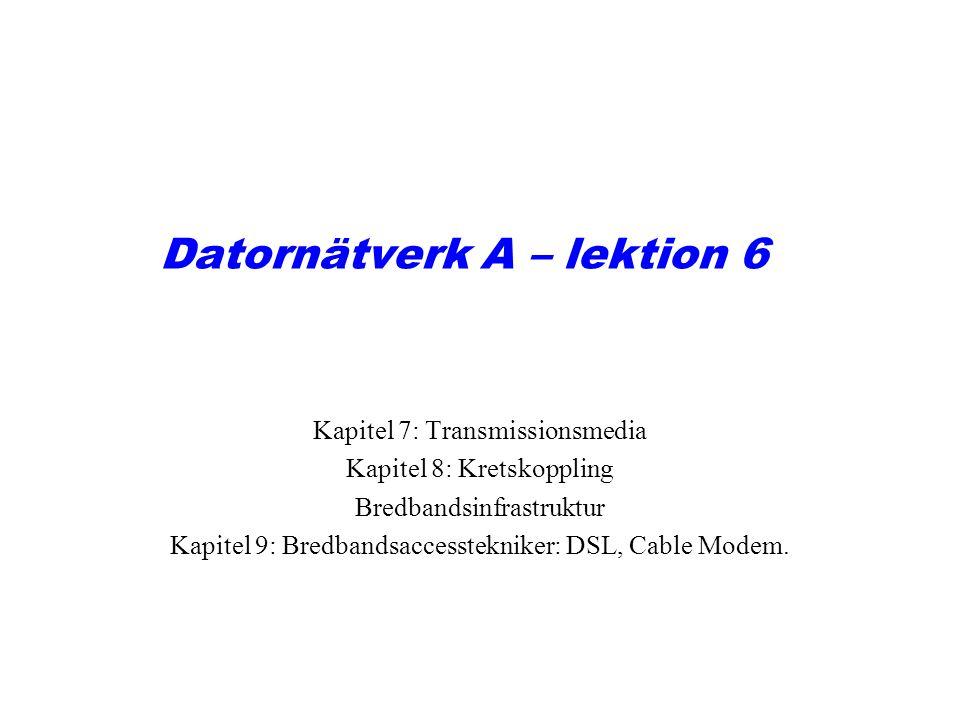 Datornätverk A – lektion 6