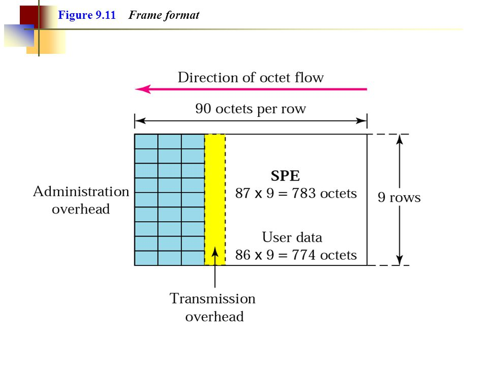 Figure 9.11 Frame format