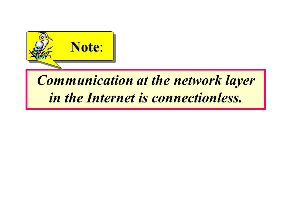 Communication at the network layer in the Internet is connectionless.