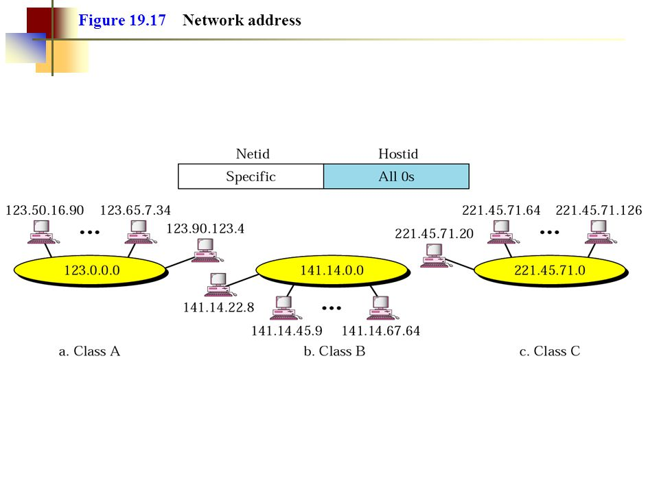 Figure 19.17 Network address