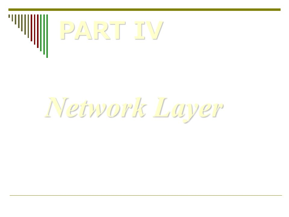 PART IV Network Layer