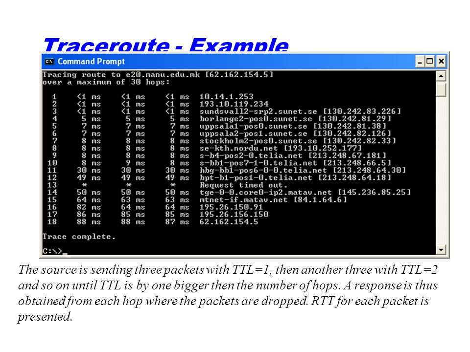 Traceroute - Example