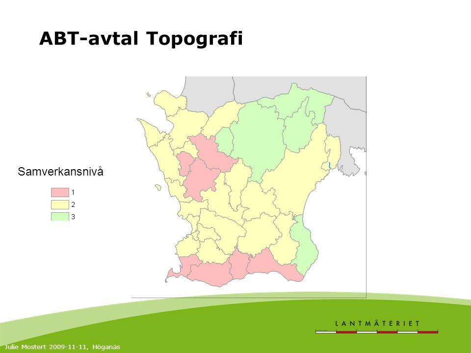 ABT-avtal Topografi Samverkansnivå Julie Mostert 2009-11-11, Höganäs